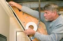 weatherstip attic access pull down door