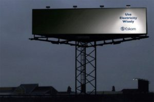 billboard about electricity savings