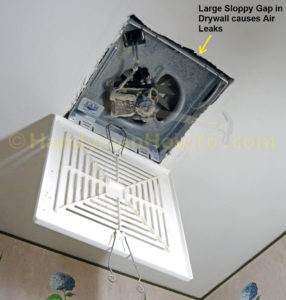 air leak bath vent fan
