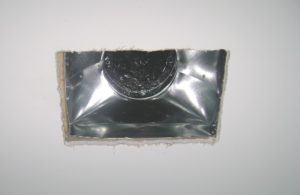 air leak ceiling heat vent