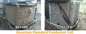 Condenser Coil Before and After