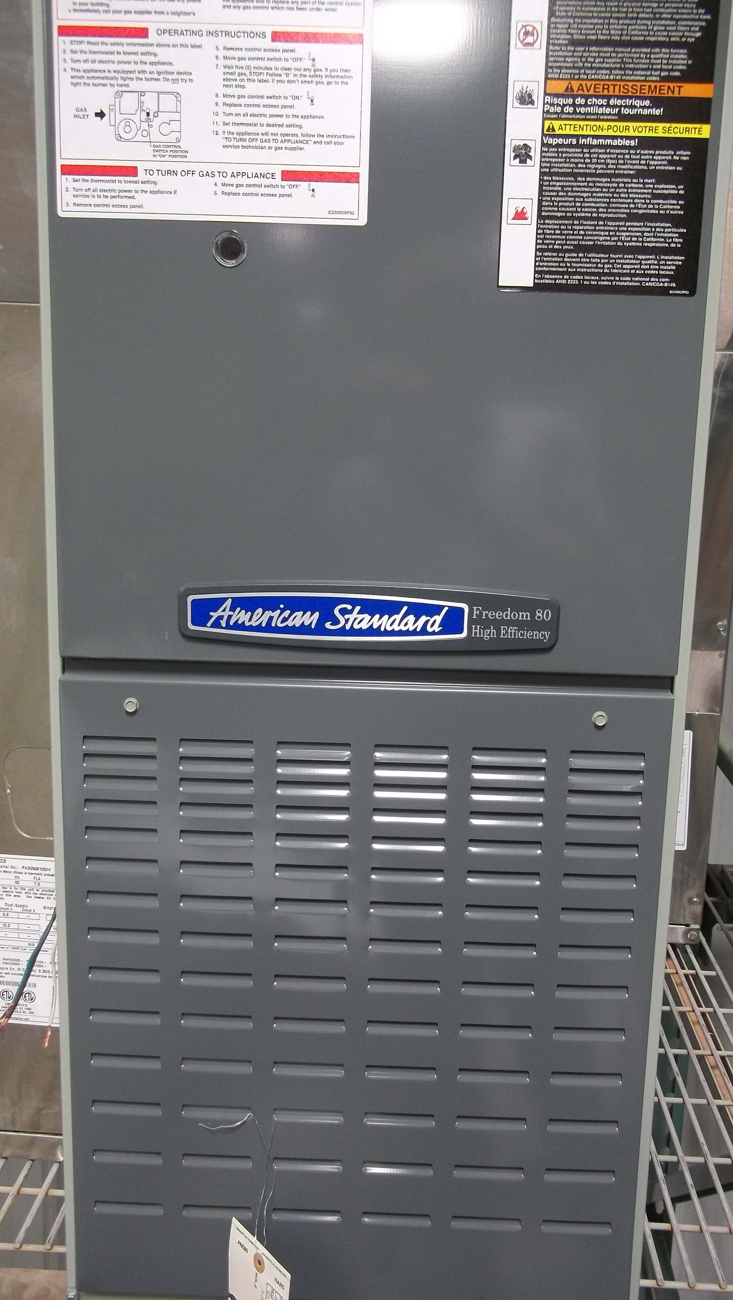 am-std-80-gas-furnace | Al\'s Plumbing, Heating & Air Conditioning