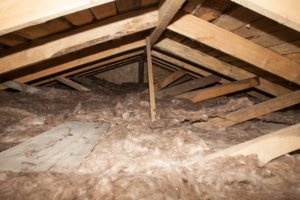 home attic with insulation