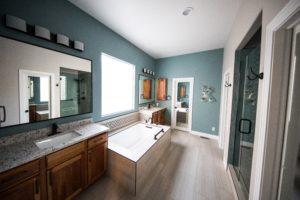 full size bath mirror over vanity