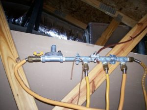 csst gas lines in attic installation
