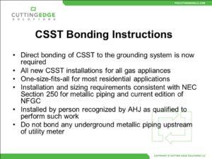 csst bonding requirement statement