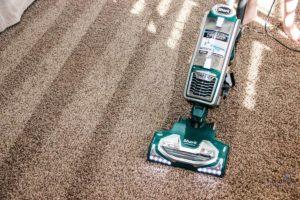 carpet during vacuuming