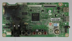 photo of circuit board damaged by lightning