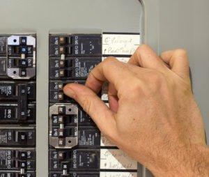 photo of circuit breaker panel