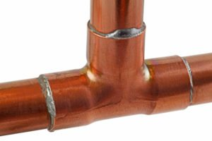 copper water pipes connection