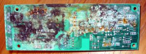 photo of corroded printed circuit board