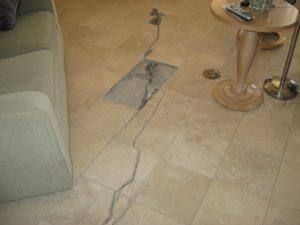 cracked floor tile