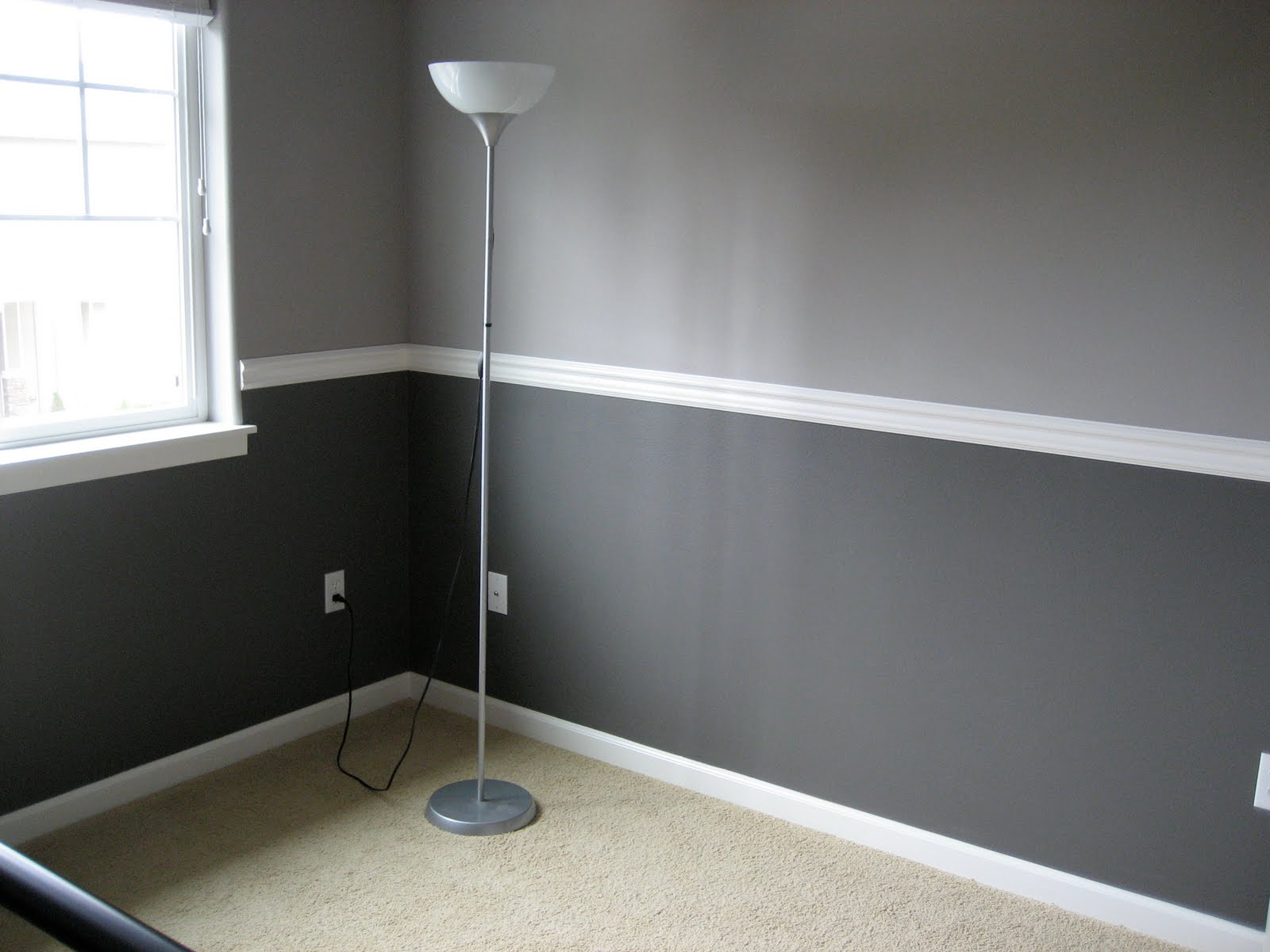 ... Room With 2 Shades Of Gray Paint ...