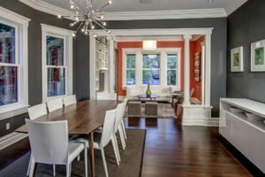 adjoining rooms with different colors