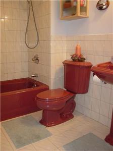 mauve bath fixtures