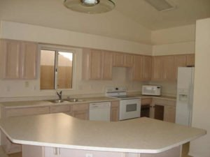 bleached kitchen cabinets