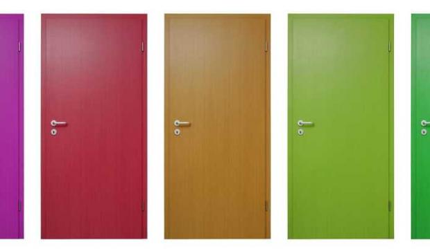 interior doors painted different colors