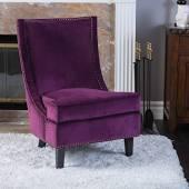 purple high back chair