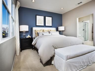 accent wall contrasting color with gray