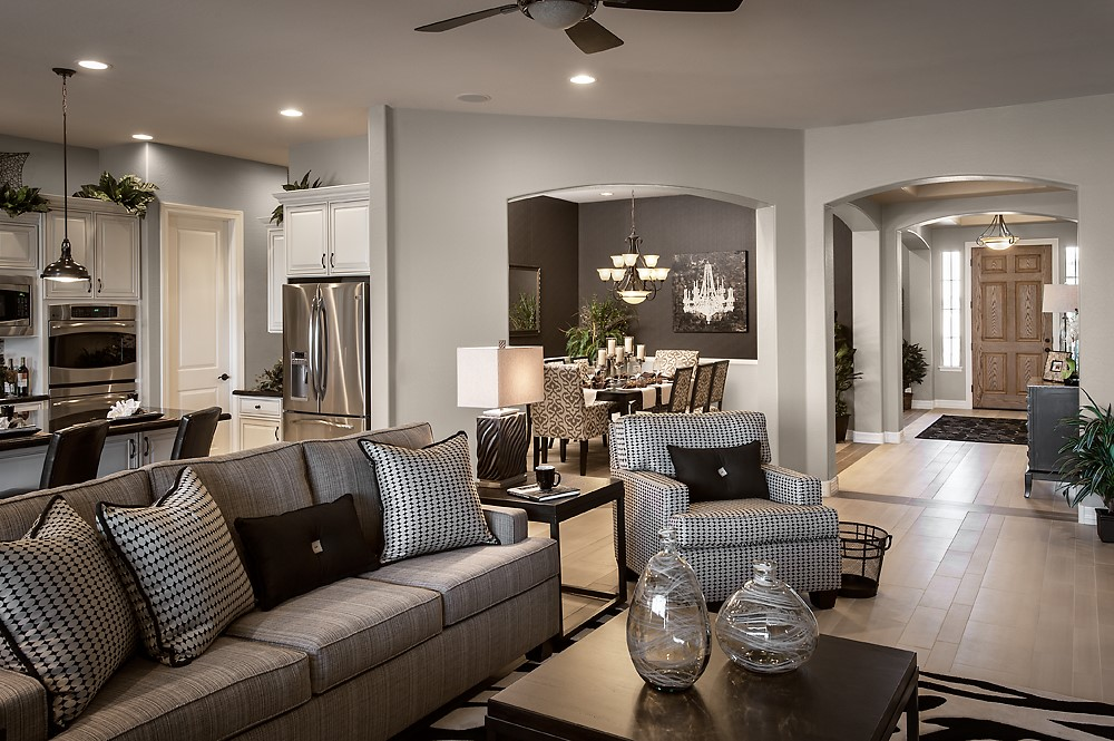 Decor with several shades of gray
