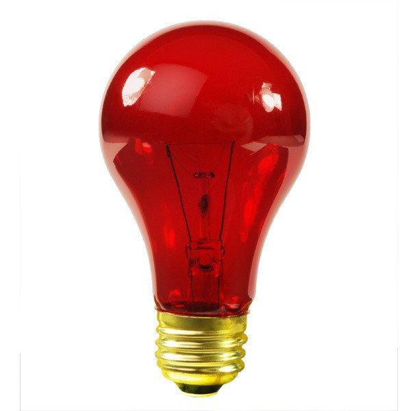 clear red glass 25-watt incandescent light bulb
