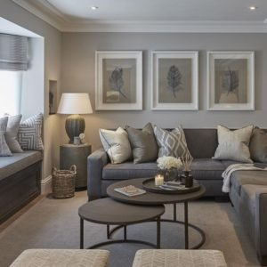 room with all neutral colors from same color familyh