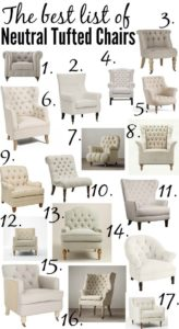 several styles of arm chairs