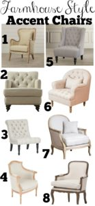 several farmhouse style chairs