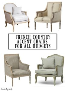 several french county arm chairs