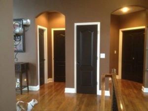 white trim with black doors