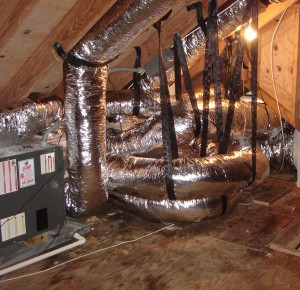 correctly installed flexible ductwork
