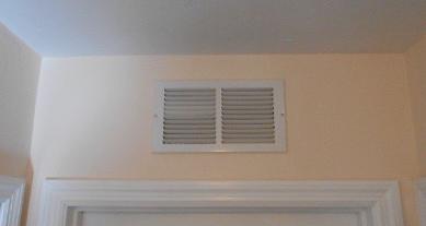 hvac air balancing grills over bedroom door