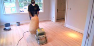 refinishing hardwood floor