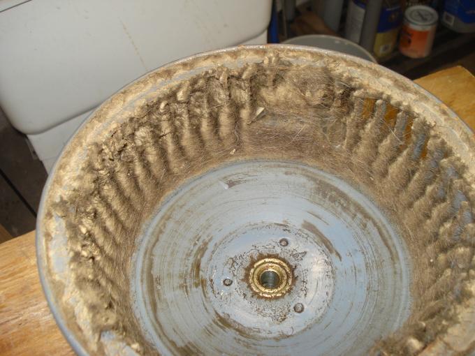 very dirty furnace blower wheel
