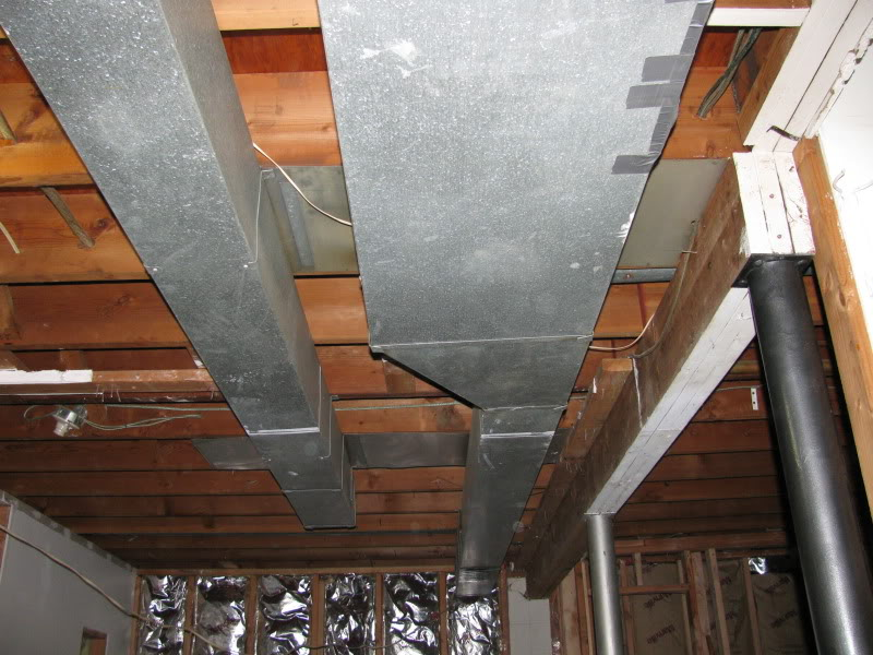 hvac ductwork reducing in size