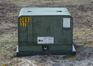 electricity transformer for underground utilities