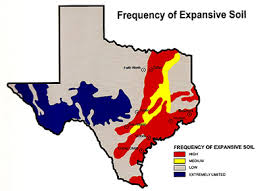 location of expansive soil in texas