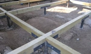 photo of pier and beam foundation before home is built