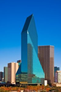 fountain place office tower in downtown Dallas, TX