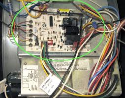 photo of furnace control board installed in furance