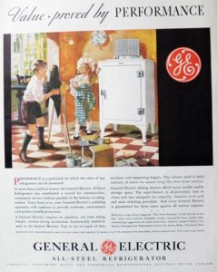 photo of one of the first general electric refrigerators