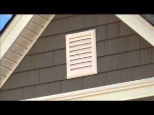 photo of attic gable vent