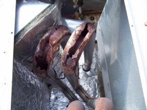 photo of badly rusted furnace heat exchanger