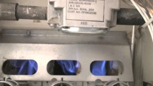 photo of gas furnace flames distortion