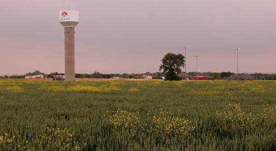 heath texas water tower
