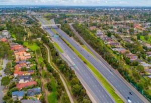 highway near homes