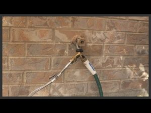 hose faucet coming from wall