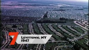 Levittown NY color aerial photo