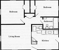 Levittown NY Cape Cod Floorplan