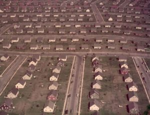 levittown ny aerial photo showing colors of houses